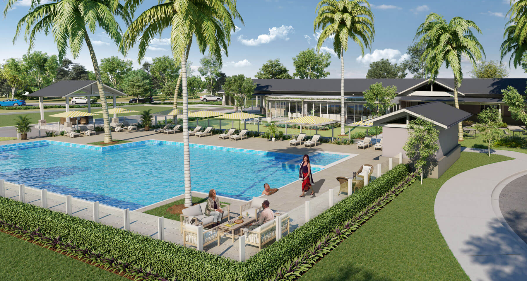 Plantations outdoor pool area
